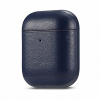 Leather Case for Airpods 1/2 (синий)