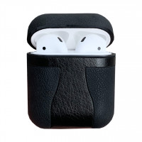 Чехол TPU LEATHER SOFT для Apple Airpods (черный)