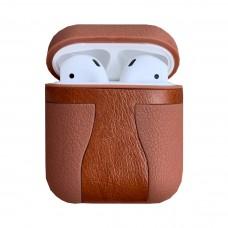 Чехол TPU LEATHER SOFT для Apple Airpods (светло-коричневый)