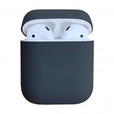 Чехол силиконовый для Apple Airpods Silicone Case (серый)