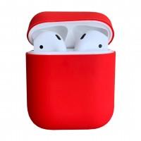 Чехол силиконовый для Apple Airpods Silicone Case (Red)