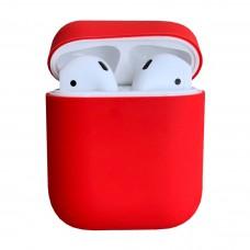 Чехол силиконовый для Apple Airpods Silicone Case (красный)