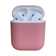 Чехол силиконовый для Apple Airpods Silicone Case (розовый)