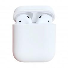 Чехол силиконовый для Apple Airpods Silicone Case (белый)