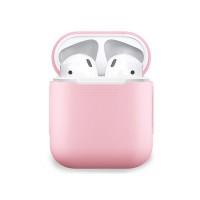 Чехол силиконовый для Apple Airpods (розовый)