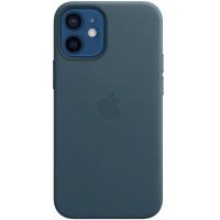 Накладка Leather Case для iPhone 12 Mini (Blue Lake)