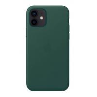 Накладка Leather Case Magsafe для iPhone 12 Mini (Pine Green)