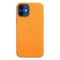 Накладка Leather Case для iPhone 12 Mini (Orange)