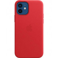 Накладка Leather Case для iPhone 12 Mini (Red)