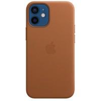Накладка Leather Case Magsafe для iPhone 12 Mini (Brown)
