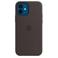 Накладка Silicone Case Magsafe для iPhone 12 Mini (Black)