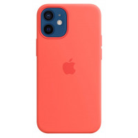 Накладка Silicone Case Magsafe для iPhone 12 Mini (Citrus)