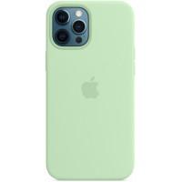 Накладка Silicone Case Magsafe для iPhone 12 Pro Max (Pistachio)