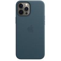 Накладка Leather Case Magsafe для iPhone 12 Pro Max (Blue Lake)