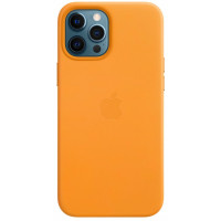 Накладка Leather Case Magsafe для iPhone 12 Pro Max (Orange)