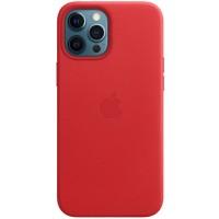 Накладка Leather Case для iPhone 12 Pro Max (Red)