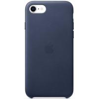 Накладка Leather Case для iPhone SE 2020 (Midnight Blue)