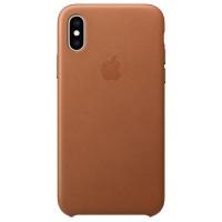 Накладка Leather Case для iPhone Xs Max (Brown)