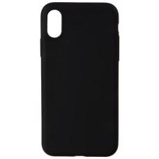 Чехол силиконовый для iPhone X/Xs (черный)