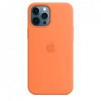 Накладка Silicone Case Magsafe для iPhone 12/12Pro (Cantaloupe)