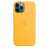 Накладка Silicone Case Magsafe для iPhone 12/12Pro (Sunflower)