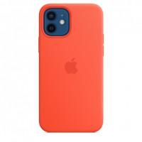 Накладка Silicone Case Magsafe для iPhone 12 Mini (Electric Orange)