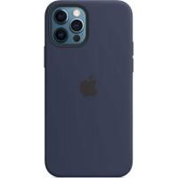 Накладка Silicone Case Magsafe для iPhone 12/12Pro (Deep Navy)