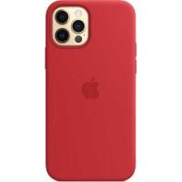 Накладка Silicone Case для iPhone 12 Pro Max (Red)