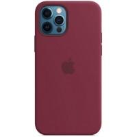 Накладка Silicone Case Magsafe для iPhone 12/12Pro (Plum)