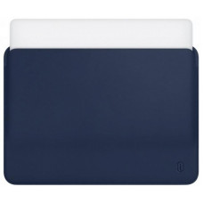 "15.4"" Чехол WIWU Skin Pro Leather Sleeve для MacBook Pro (синий)"