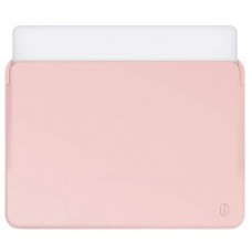 "15.4"" Чехол WIWU Skin Pro Leather Sleeve для MacBook Pro (розовый)"
