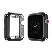 Бампер силиконовый для Apple Watch 38мм (черный)