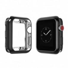 Бампер силиконовый для Apple Watch 42мм (черный)