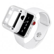 Бампер силиконовый для Apple Watch 40мм (белый)