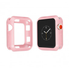 Бампер силиконовый для Apple Watch 40мм (розовый)