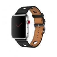 Ремешок кожаный COTEetCI для Apple Watch 42/44mm WH5221-BK (черный)