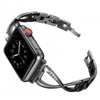 Металлический браслет для Apple Watch 38/40mm Diamond Strap (черный)
