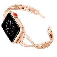 Металлический браслет для Apple Watch 42/44mm Diamond Strap (золото)