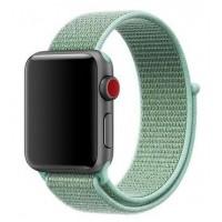Браслет нейлоновый для Apple Watch 42/44мм (бирюзовый)