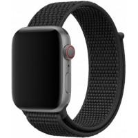 Браслет нейлоновый для Apple Watch 38/40мм (черный)