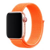 Браслет нейлоновый для Apple Watch 42/44мм (оранжевый)