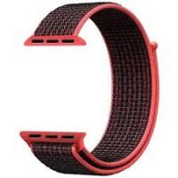 Браслет нейлоновый для Apple Watch 38/40мм (красный/черный)