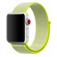 Браслет нейлоновый для Apple Watch 38/40мм (желтый)