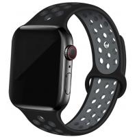 Спортивный ремешок Nike + для Apple Watch 42/44мм (Black/Silver)