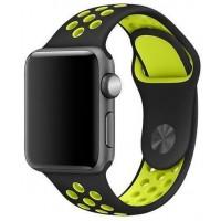 Спортивный ремешок Nike для Apple Watch 38/40mm (Black Yellow)