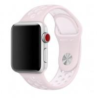 Спортивный ремешок Nike + для Apple Watch 42/44мм (Light Pink/White)