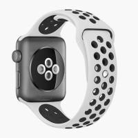 Спортивный ремешок Nike + для Apple Watch 38/40мм (Rice white/ Black)
