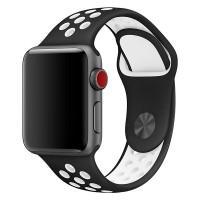 Спортивный ремешок Nike + для Apple Watch 38/40мм (Black/White)