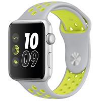 Спортивный ремешок Nike для Apple Watch 38/40mm (Silver Yellow)