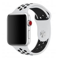 Спортивный ремешок Nike + для Apple Watch 42/44мм (White/Black)